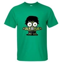 CRAZY POMELO Green Hulk Cartoon Print Multi-color Men's T-shirt