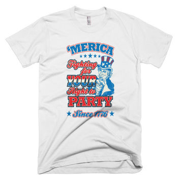 Your Right to Party men's t-shirt