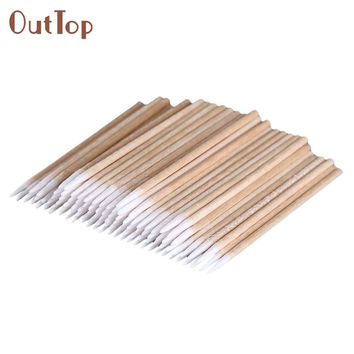 100pcs/1pack Cotton swabs OutTop High Quality Permanent Makeup Cotton Pointed Swab Pretty Medical Cure Health Makeup Stick