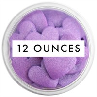 Purple Shimmer Jumbo Heart Sprinkles 12 OZ