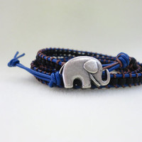 Multi wrapping bracelet with cute elephant!