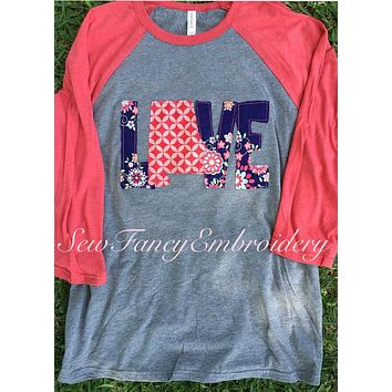 Love Alabama Baseball Tee, Love Alabama Shirt