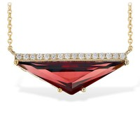 Ben Garelick Trillion Cut Garnet & Diamond Necklace
