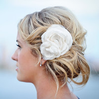 Emma | Handmade Wedding Hair Flower for the Vintage-Inspired Bride | Custom Variations Welcome | Percy Handmade