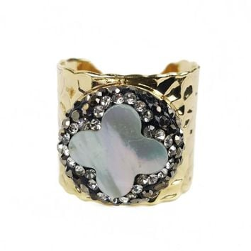 Plated Cross Ring