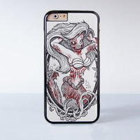Zombie Mermaid Design Princess Plastic Case Cover for Apple iPhone 6 6 Plus 4 4s 5 5s 5c