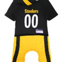 Pittsburgh Steelers Dog Uniform One-Piece Licensed NFL Football Product