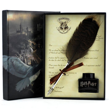 Quill Pen, Luxury Harry Potter Quill Pen And Ink Set