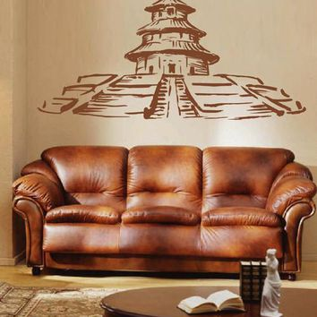 ik2410 Wall Decal Sticker Chinese temple hall bedroom china chinese restaurant