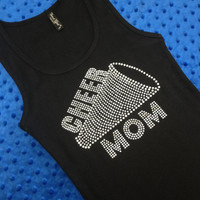 Cheer Mom Rhinestone Tank Top