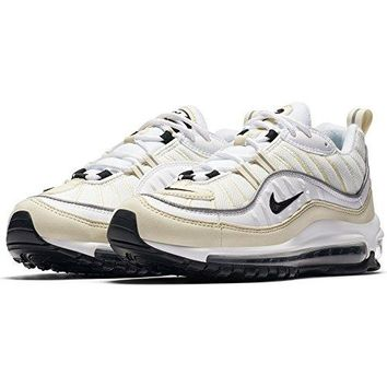 NIKE Womens W Air Max 98 White/Black Leather
