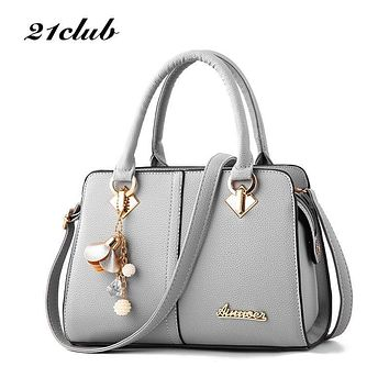 Women hardware ornaments solid totes handbag high quality lady party purse casual crossbody messenger shoulder bags
