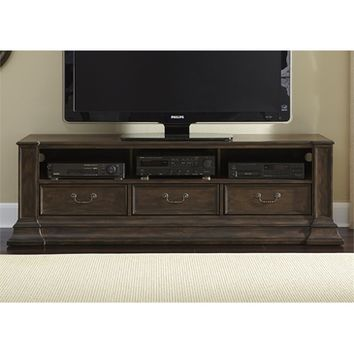 Liberty Mendenhall I Entertainment TV Stand In Rustic Brown
