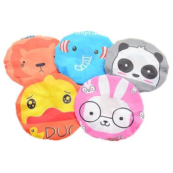 Shower Cap Waterproof Shower Cap Lace Elastic Band Hat Bath Cap Cute Cartoon Women Ladies Caps Bath Hats Bathroom Accessories