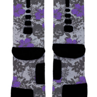 Purple Floral Custom Nike Elites