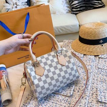 Louis Vuitton LV Damier Azur Canvas SPEEDY BANDOULIÈRE 20