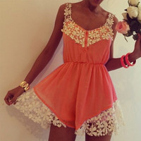 Clementine Lace Playsuit - Sold Out