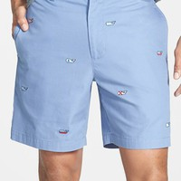 Men's Vineyard Vines 'Burgee Whale' Embroidered Twill Shorts