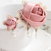Handmade clip hair jewelry DIY hairpin vintage hair accessories little girl gift  FJ-150