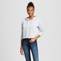Women's Cropped Hoodie Heather Gray XXL - Mossimo Supply Co.™ (Juniors') : Target