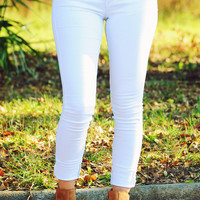On Cloud Nine Jeans: White