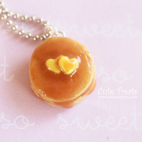 Pancakes Necklace - Miniature Food Jewelry