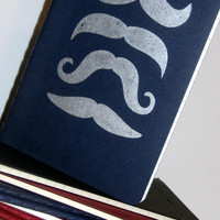Mustache Notebook Moleskine by MadeByRori on Etsy
