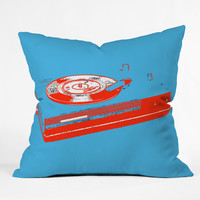 Romi Vega Record Player Throw Pillow