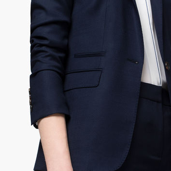 NAVY BLUE SUIT JACKET - View all - Blazers - WOMEN - España (Excepto Canarias)/Spain (except the Canary Islands)
