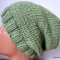 Chunky Knit Winter Souchy Hat, Knitted Winter hat, Woman's knit, slouchy hat , Chunky, Beret, Winter Ski,Oversized Hat, Wool Beret