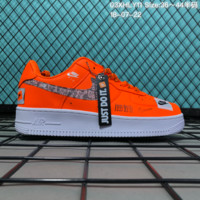 HCXX N087 Nike Air Force 1 Low Retro Just Do It Breathable Causal Skate Shoes Orange