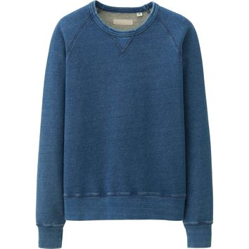 MEN PURE BLUE JAPAN SWEAT SHIRT | UNIQLO