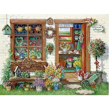 5D Diamond Painting Fancy Flower Shoppe Kit