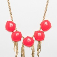 Escapade Necklace in Hot Coral - ShopSosie.com