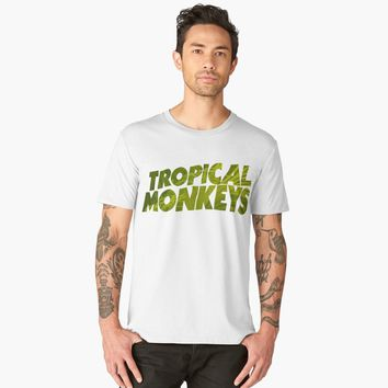 """Tropical Monkey"" Men's Premium T-Shirt by hypnotzd 