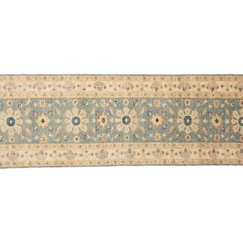 "2'8""x9'1"" Mollie Runner, Light Blue, Area Rugs"