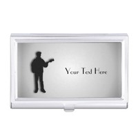 Bass Guitar Player Personalized Business Card Case