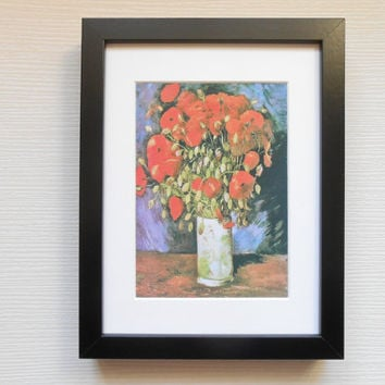 13 - Beautiful still life print by Van Gogh, Wall art, Wall decoration, Wall decor, Print, Art print, Still life print, Poppy, Red flowers