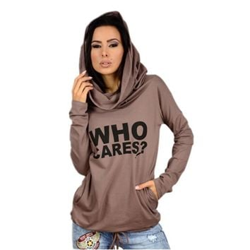 Who Cares  Hoodies Sweatshirts