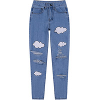 Cloud Distressed Jeans