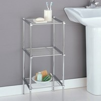 A.M.B. Furniture & Design :: Bathroom Accessories :: Bathroom shelves :: 3 tier chrome finish metal bathroom accessory shelf