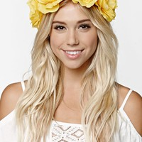 With Love From CA Flower Crown - Womens Jewelry - Yellow - One