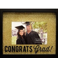 Glitter Silk Screened Graduation Photo Frame 9 1/2in x 7 1/2in | Party City