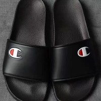 Champion Beach Sandal Women Casual Slipper Shoes - Black