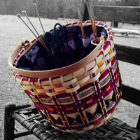 Knit Wit Knitting Sewing Caddy Basket Kit