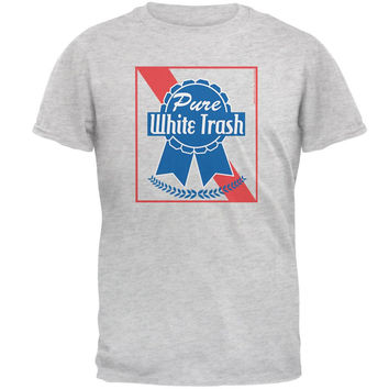 Pure White Trash Heather Blue/Navy Men's Ringer T-Shirt