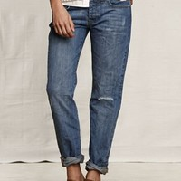 Women's Rigid Boyfriend Jeans from Lands' End Canvas