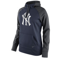New York Yankees Nike Women's All Time Performance 1.5 Pullover Hoodie – Navy Blue