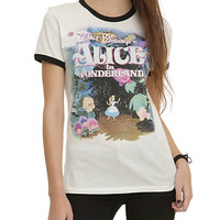 Disney Alice In Wonderland Vintage Girls Ringer T-Shirt