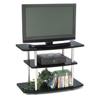 32 Inch Flat Screen TV Stand In Wood Grain Finish
